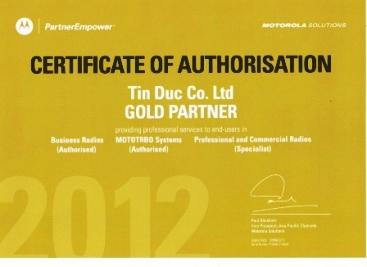 Motorola certify
